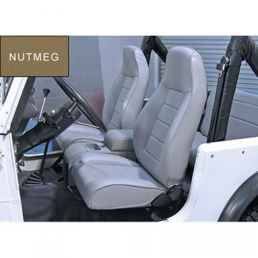 High-Back Front Seat, Reclinable in Nutmeg, 76-86 CJ