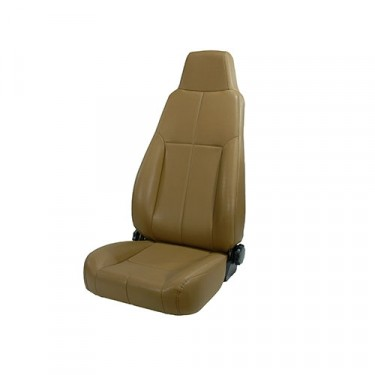 High-Back Front Seat, Late Model Headrest, 76-86 CJ