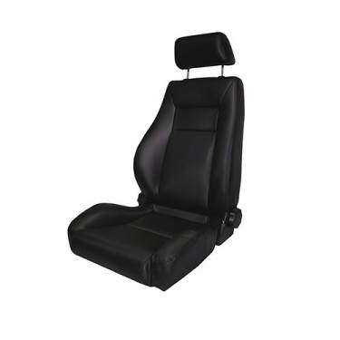 Ultra Front Reclinable Seat in Black, 76-86 CJ