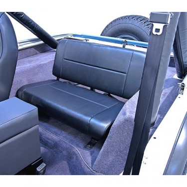 Standard Rear Seat in Black, 76-86 CJ