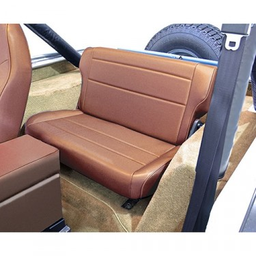 Fold and Tumble Rear Seat in Tan, 76-86 CJ