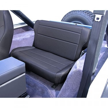 Fold and Tumble Rear Seat in Black Denim, 76-86 CJ