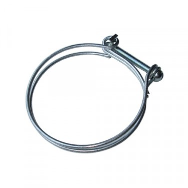 Oil Bath Air Cleaner Flexible Air Hose Clamp, 53-71 CJ-3B, 5, M38A1 with 4-134 F engine