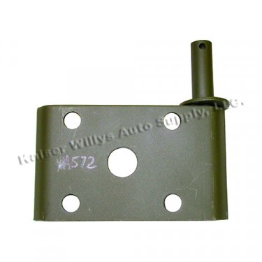 Front Drivers Side Lower Shock Mount Plate, 41-64 MB, GPW, CJ-2A, 3A, 3B, M38