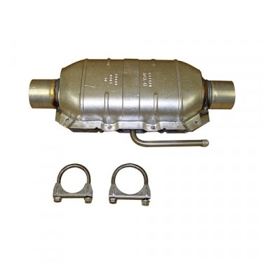 Catalytic Converter Kit with Hardware, 76-78 CJ