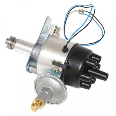 Complete Solid State Electronic Ignition Distributor 12 volt, 46-64 Jeep & Willys with 6-226 engine