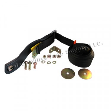 Retractable 3-Point Front Seat Belt with Hardware, 41-75 Jeep