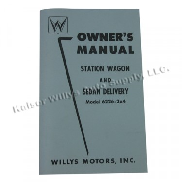 Owners Manual  Fits  54-55 Station Wagon with Planar Suspension (2wd)