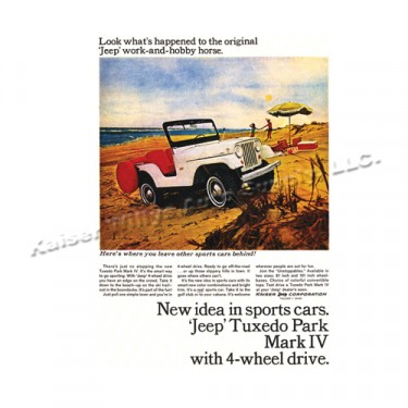 Vintage Willys Ad 1965 Jeep Tuxedo Park Mark IV Ad