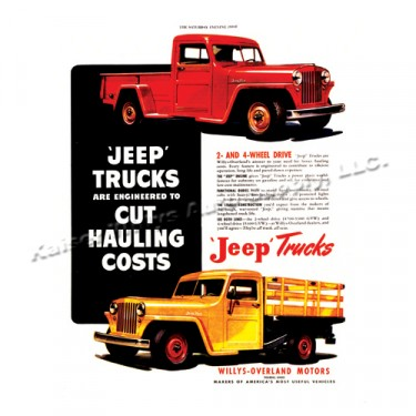 Vintage Willys Ad Cutting Hauling Cost