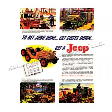 Vintage Willys Ad Job Done Cost Down