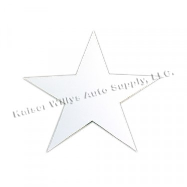 "Decal 4"" High White Bumper/Body Star  Fits  41-71 Jeep & Willys"