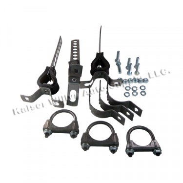 Exhaust System Clamp & Hanger Kit , 46-71 CJ-2A, 3A, 3B, 5