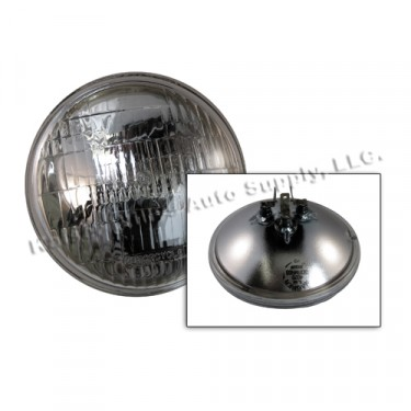 Sealed Beam Halogen Headlight Bulb 12 volt, 41-45 Willys & Ford MB, GPW