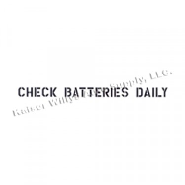 """New Standard 1"""" Check Batteries Dailey Paint Mask Stencil Fits  41-71 Jeep & Willys (1 Line)"""