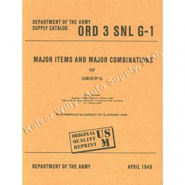 Major Vehicles & Combinations - SNL G-1  Manual Fits  41-71 Jeep & Willys