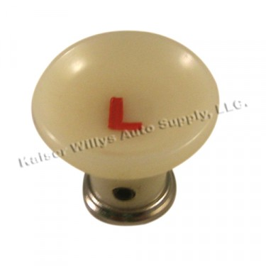 Headlight Light Switch Knob, Ivory, 46-49 Truck, Station Wagon, Jeepster