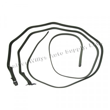 Top Bow Strap Set (2 piece), 45-64 CJ-2A, 3A, 3B, 5