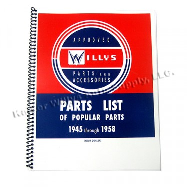 Willys Service Standard Manual Fits : All Willys & Jeeps