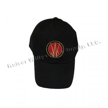 Willys Embroidered Hat, Black, 41-71 Willys Jeep