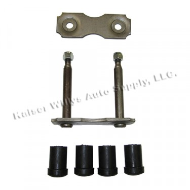 Rear Leaf Spring Shackle Kit, 67-72 CJ-5, Jeepster