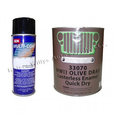 Olive Drab Green Flat Chassis Paint Kit