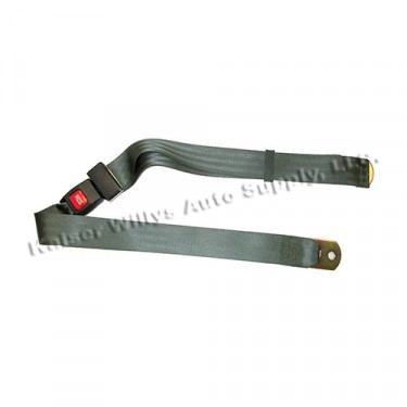 Non-Retractable Seat Belt with Hardware, Olive Drab, 41-75 Jeep