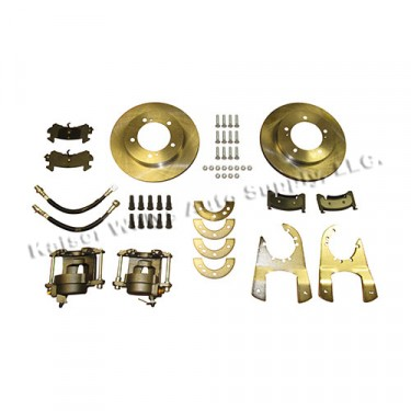 Complete Rear Disc Brake Conversion Kit, 46-71 Jeep & Willys