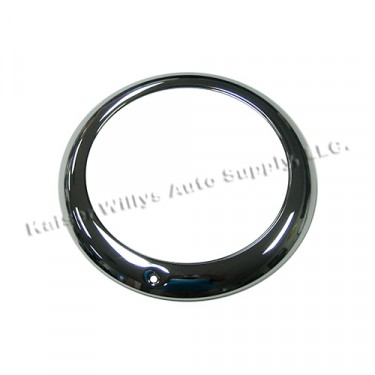 Chrome Headlight Bezel, 46-53 CJ-2A, 3A