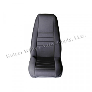 Neoprene Front Seat Covers in Black, 76-86 CJ