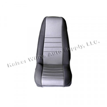 Neoprene Front Seat Covers in Gray, 76-86 CJ