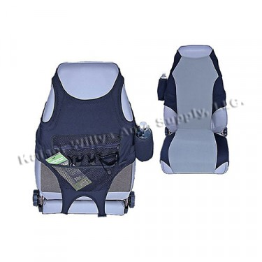 Fabric Seat Protectors in Gray, 76-86 CJ