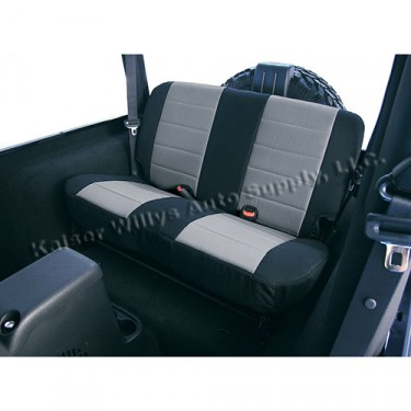 Neoprene Rear Seat Covers in Gray, 80-86 CJ