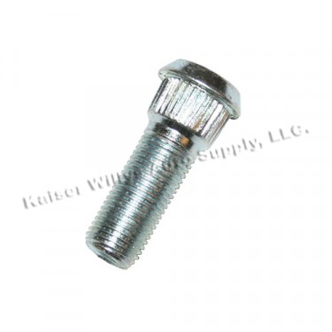 Front Passenger Side Thread Wheel Stud with Drum Brakes, 76-78 CJ