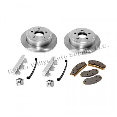 Front Disc Brake Service Kit with 2 Bolt Caliper Plate, 78-81 CJ