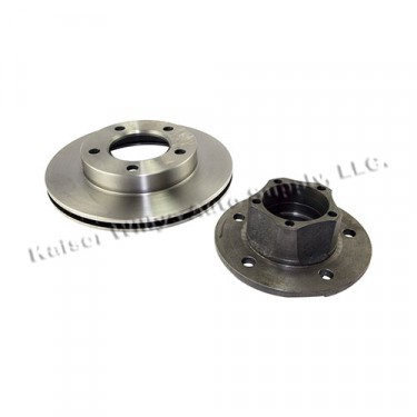 Front Wheel Hub and Rotor with 7/8 Inch Thick Rotor, 5 Bolt Hub, 81-86 CJ