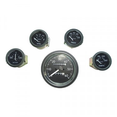 Complete Speedometer Assembly and Gauge Kit (24 Volt - 0-120), 50-66 M38, M38A1