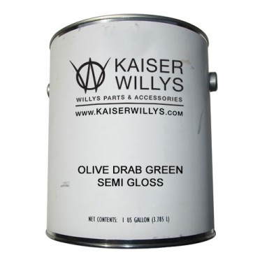 Olive Drab Green Semi Gloss Paint, 1 Gallon, 41-71 Jeep & Willys