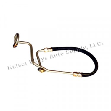 Power Steering Pressure Hose from Pump to Gear Box, 80-86 CJ with 6 Cylinder