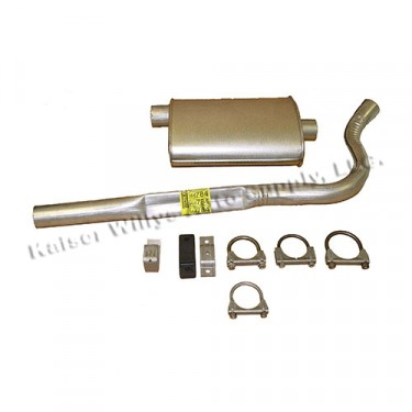 Cat Back Exhaust Kit, 83-86 CJ-7 with 6 Cylinder