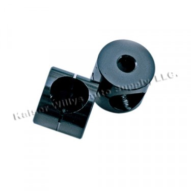 Mirror Bracket Bushings in Black Aluminum, 76-86 CJ
