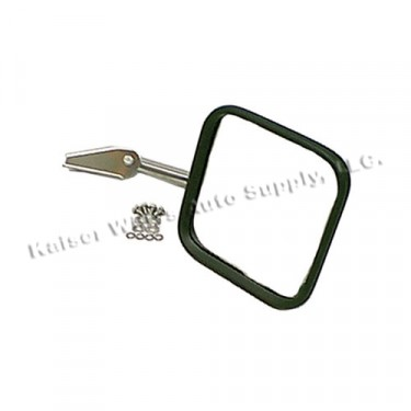 Passenger Side Mirror and Arm in Stainless, 76-86 CJ