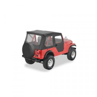 Bestop TigerTop Soft Top Kit Fits 55-75 Jeep Color: Black
