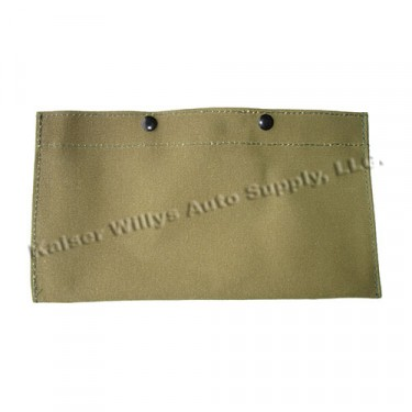 License Plate Tag Canvas Cover, 41-71 Jeep & Willys