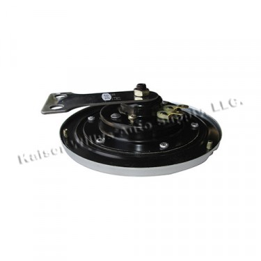 Flat Metal Horn in Black, 12 Volt, 41-71 Willys & Jeep