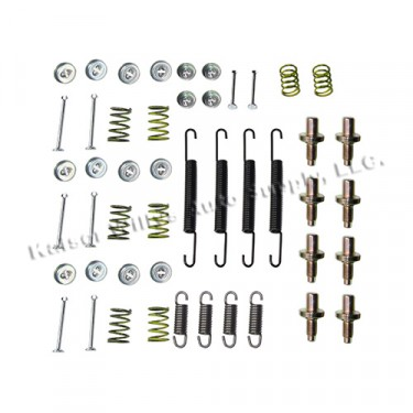 Complete Brake Spring & Hardware Master Kit, 52-71 CJ-3B, 5, 6, M38A1