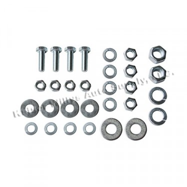 Engine & Transmission Insulator Hardware Kit, 41-53 MB, GPW, CJ-2A, 3A with L 4-134 engine