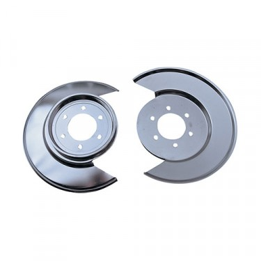 Brake Dust Shields in Stainless, 77-78 CJ