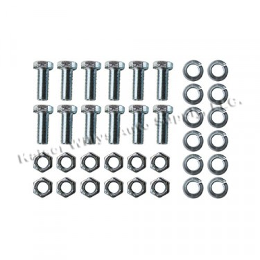 Backing Plate to Steering Knuckle Hardware Kit, 46-55 Jeepster, Station Wagon with 10 Inch brakes