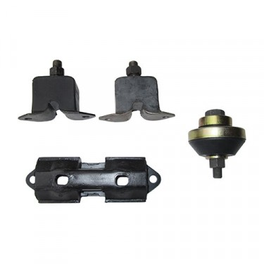 Engine, Transmission & Transfer Case Mount Kit (insulators), 58-64 Truck, Station Wagon with 6-226 engine